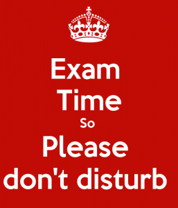 Do not disturb Exam Time DP