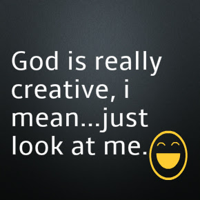 God is really creative dp