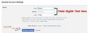 How to Make Stylish Names for Facebook Profile? - Ready Tricks