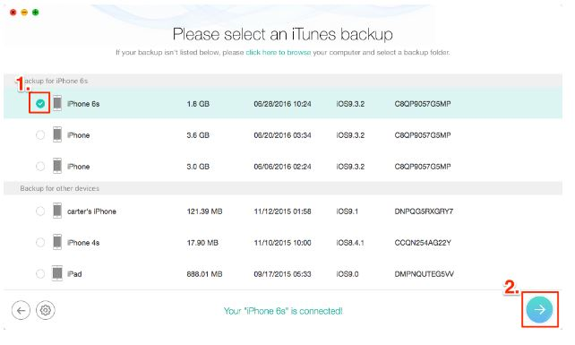 iTunes backup based on size